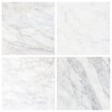 fondo di marmo di struttura di bianco dell'insieme 4 (di alta risoluzione) Immagini Stock Libere da Diritti