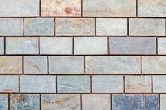 Fondo di marmo grigio dei mura di mattoni Immagini Stock Libere da Diritti
