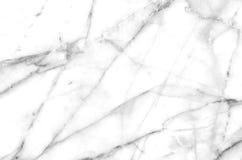 Fondo di marmo naturale bianco e grigio di struttura del modello Fotografie Stock