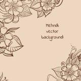 Fondo di Mehndi Illustrazione di Stock