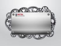 Fondo di Metall con gli ingranaggi Fotografia Stock Libera da Diritti