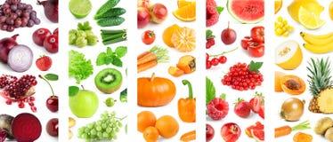 Fondo di misto della frutta e delle verdure di colore immagini stock