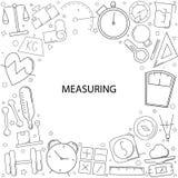 Fondo di misurazione dalla linea icona illustrazione vettoriale