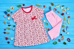 Fondo di modo di estate della neonata Fotografia Stock