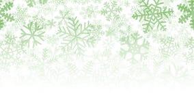 Fondo di molti strati dei fiocchi di neve Immagine Stock