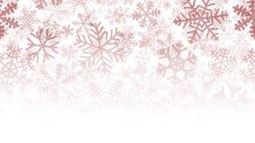 Fondo di molti strati dei fiocchi di neve Immagini Stock