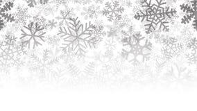 Fondo di molti strati dei fiocchi di neve Fotografia Stock Libera da Diritti