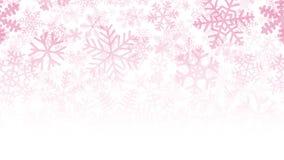 Fondo di molti strati dei fiocchi di neve Fotografie Stock Libere da Diritti