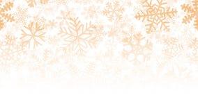 Fondo di molti strati dei fiocchi di neve Immagine Stock Libera da Diritti