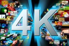 Fondo di multimedia. concetto di risoluzione 4k Fotografia Stock Libera da Diritti