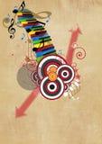 Fondo di musica Fotografie Stock Libere da Diritti