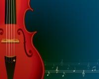 Fondo di musica con il violino Fotografie Stock