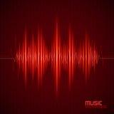 Fondo di musica con l'equalizzatore Fotografia Stock
