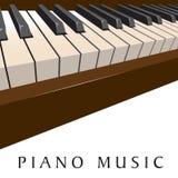 Fondo di musica del piano Fotografie Stock