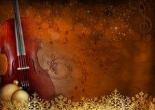Fondo di musica e del nuovo anno Fotografia Stock