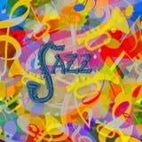 Fondo di musica di jazz Fotografie Stock
