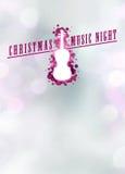 Fondo di musica o di concerto di Chistmas Fotografie Stock