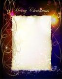 Fondo di Natale con carta e la candela Fotografie Stock