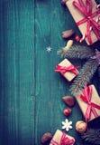 Fondo di Natale con copyspace per un saluto Immagine Stock
