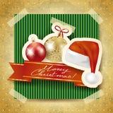 Fondo di Natale con gli elementi di carta Fotografia Stock