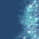 Fondo di Natale con gli indicatori luminosi defocused Fotografie Stock