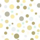 Fondo di Natale con i cerchi colorati ed i fiocchi di neve Eps10 senza cuciture illustrazione di stock
