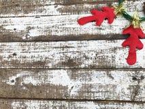 Fondo di Natale con i corni dei cervi Fotografia Stock