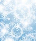 Fondo di Natale con i fiocchi di neve Fotografie Stock Libere da Diritti