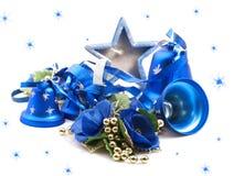 Fondo di Natale con i giocattoli. Immagini Stock