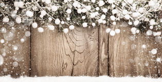 Fondo di Natale con i rami dell'abete Fotografia Stock