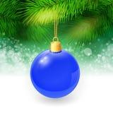 Fondo di Natale con i ramoscelli ed il natale dell'abete Immagini Stock Libere da Diritti