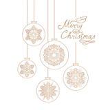 Fondo di Natale con il BUON NATALE scritto a mano dell'iscrizione Immagini Stock