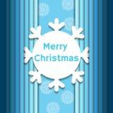 Fondo di Natale con il fiocco di neve di carta Immagine Stock Libera da Diritti