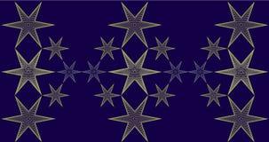 Fondo di Natale con il modello di stelle Fotografie Stock