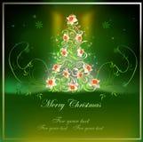 Fondo di Natale con l'albero di Natale Fotografia Stock Libera da Diritti