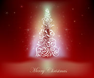 Fondo di Natale con l'albero di Natale Fotografia Stock