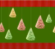 Fondo verde di Natale con l'albero. Vettore royalty illustrazione gratis