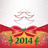 Fondo di Natale con l'arco Fotografie Stock