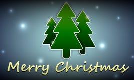 Fondo di Natale con l'immagine di tre alberi di Natale Fotografia Stock