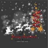 Fondo di Natale con l'insegna di Natale delle stelle Buon anno 2019 di progettazione di natale del fondo fotografia stock libera da diritti
