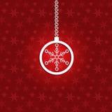 Fondo di Natale con la bagattella 3d e lo snowfla 3d Immagine Stock Libera da Diritti