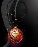 Fondo di Natale con la palla Fotografia Stock