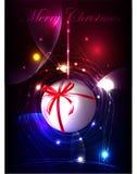 Fondo di Natale con la palla Immagini Stock