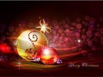 Fondo di Natale con la palla Immagini Stock Libere da Diritti