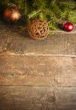 Fondo di Natale con le decorazioni d'annata Fotografia Stock Libera da Diritti