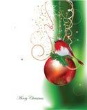Fondo di Natale con le palle Immagine Stock Libera da Diritti