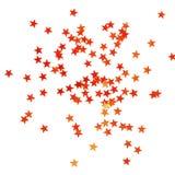 Fondo di Natale con le piccole stelle rosse brillanti Immagini Stock Libere da Diritti