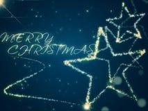 Fondo di Natale con le stelle Fotografia Stock