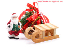 Fondo di Natale con Santa Claus. Immagine Stock Libera da Diritti