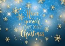 Fondo di Natale con tipo decorativo Immagine Stock Libera da Diritti